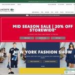 Lacoste 20% Off Coupon - Online Sale