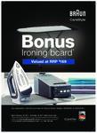 Bonus Braun Ironing Board with Braun Carestyle 5 Steam Generator Irons