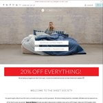20% off Bed Sheets and Quilt Covers at The Sheet Society