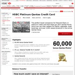 60,000 Qantas Points with The HSBC Platinum Qantas Credit Card ($199 Annual Fee)