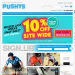 10% off Sitewide (with Exclusions) @ Pushys