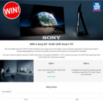 """Win a Sony 65"""" OLED UHD Smart TV Worth $5,999 or 1 of 2 $100 Gift Cards from The Good Guys"""