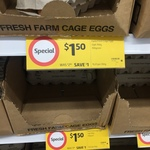 [NSW] Cage Eggs 12 Pk 700g $1.50 - Coles Chatswood Chase