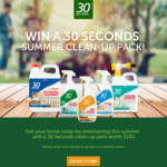 Win 1 of 4 30 Seconds Summer Clean-Up Packs Worth $100 from Tradeware
