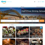 Half Price Dining at Select Restaurants Via Dimmi