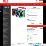 3x GamerChief SPYN 120mm RGB Fans - $49 + Free Delivery Australia-Wide - First 100 Orders Only @ PLE