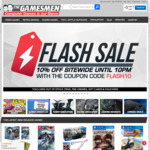 10% off Site Wide on The Gamesmen (Exclusions Apply)