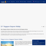 $1 Singapore Stopover (1 Night Hotel + Admission to 19 Attractions) for Those En-Route to Another Destination [SQ/MI Flights]