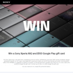 Win a Sony Xperia XA2 & $100 Google Play Gift Card or 1 of 5 $50 Google Play Gift Cards from Sony