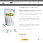 Probiotic Green Smoothie 10% off $23.39 (was $25.99) + Free Shipping (Made in Japan) @ Nizen Australia
