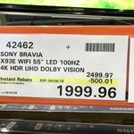 "Sony Bravia 55"" KD55X9300E 4K Ultra HD - $1999.96 ($500 off) @ Costco (Membership Required)"