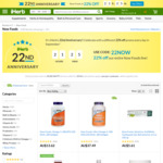 22% off Now Foods (Restrictions Apply) @ iHerb