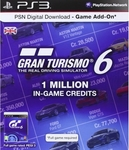 Gran Turismo 6 PSN Card for 1 Million Credits PS3 for $4.99 (UK PSN Account Required) @ OzGameShop.com