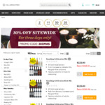 30% off Sitewide with $150+ Spend (e.g. Paragon Mclaren Vale Shiraz 12 pack $105.50/$105.70  Pickup) + 15% CR @ Cellarmasters