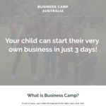 Business Camp School Holiday Program for Kids - $250 with Code (Save $50) for 3 Days during Summer Holidays