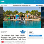 5/7 Nights for 4 People at Sea World Resort for $999/$1399 @ Cudo
