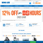 12% off Almost Sitewide @ Bing Lee (Exclusions Apply)