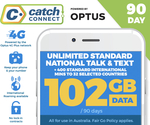 Free Catch Connect 90 Day Mobile Plan (102GB) w/ Club Catch Membership