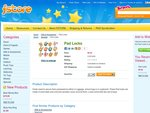 Free Pad Lock - Kids Will Love Colorful Design on Their Bags - FSTORE (EXPIRED)