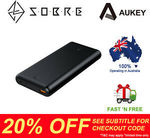 20% off Storewide - AUKEY 26800mAh 45W USB-C PD Port Power Bank $95.96 Delivered @ SOBRE eBay Store