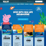 93fb80ab34a77d  VIC  30% off Full Price Sea Life General Admission   SEA LIFE Melbourne