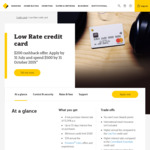 Commonwealth Bank Low Rate Mastercard Offer - $200 Cashback after Spend $500 by 31 October 2019 ($59 Annual Fee)