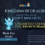 Unlimited Usenet US$40 (~AUD$57) for 18 months @ NewsDemon