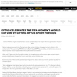 Free Access to Optus Sport for the FIFA Women's World Cup 2019 for School Children