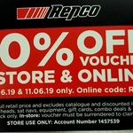 30% off Store-Wide (Exclusion Applies) - 10 & 11 June @ Repco (Instore & Online)