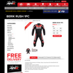 Berik Rush 1 Piece Leather Motorcycle Suit $499 (Was $1,199) + Free Shipping @ AMX Superstores