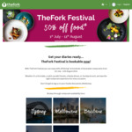 50% off Food at Selected Restaurants via The Fork