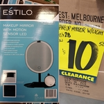 [VIC] Estilo Makeup Mirror with Motion Sensor LED $10.50 (RRP $28) @ Bunnings Maribyrnong