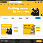 $150 off $500, $70 off $250, $35 off $150 @ Petbarn