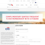Free Qantas Frequent Flyer Membership via Citibank