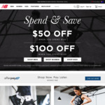 Spend $150 Save $50, Spend $300 Save $100 (Full Priced Items Only) @ New Balance