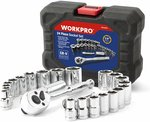 "WORKPRO 24-Piece Drive Sockets Set with 3/8"" Ratchet $29.99+ Delivery ($0 with Prime/ $39 Spend) @ Greatstar Tools Amazon AU"