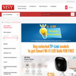 Buy Selected TP-Link Models to Get Smart Wi-Fi Led Bulb for Free (e.g KC100 @ $79 Get Free Bulb) @ MSY