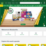 $10 off Orders over $220 @ Woolworths Online