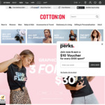$10 off $50 Spend with Westpac Credit Card @ Cotton On