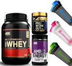Optimum Nutrition 100% Whey 2lb Whey + Amino Energy 30 Serves + IntraWorkout 30 Serves $99 Shipped @ Supp Kings