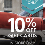 10% off Kathmandu Gift Cards (in Store Only)