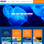 2 for 1 Tickets | 20% off @ Sealife Melbourne Aquarium
