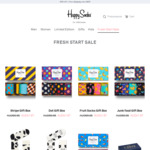 40% off Selected Styles (Starting $11.97) and Free Shipping @ Happy Socks (+ 25% Cashback @ ShopBack)