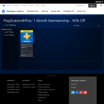 PlayStation Plus 1 Month Membership $5.97 @ PlayStation Store