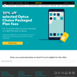 20% off Selected 'Optus Choice Packaged Plan' Fees for Eligible (Regional) Areas @ Optus
