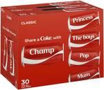 Coca-Cola 30x375ml Half-Price $17.22 ($19.25 in Bottle Deposit Scheme States) @ Woolworths