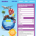 Instantly Win 1 of 290 $100 Gift Cards or 1 of 2 Trips Worth $15,000 from Stuart Alexander & Co [Buy 2x Mentos from Woolworths]