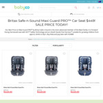 Britax Safe-N-Sound Maxi Guard Pro $449 + Shipping @ Babyco