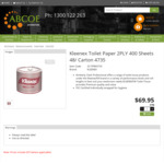 Kleenex Toilet Paper 2PLY 400 Sheets 48 Carton Individually Wrapped $69.95 + Delivery @ Abcoe