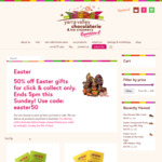 [VIC] 50% off All Easter Collection - Click and Collect Orders Only @ Yarra Valley Chocolaterie